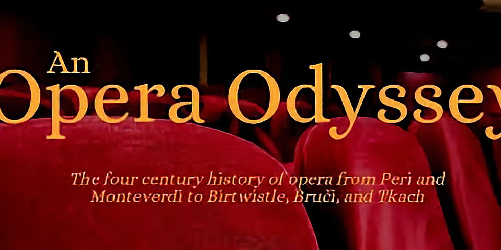 An Opera Odyssey - CD & DVD recording