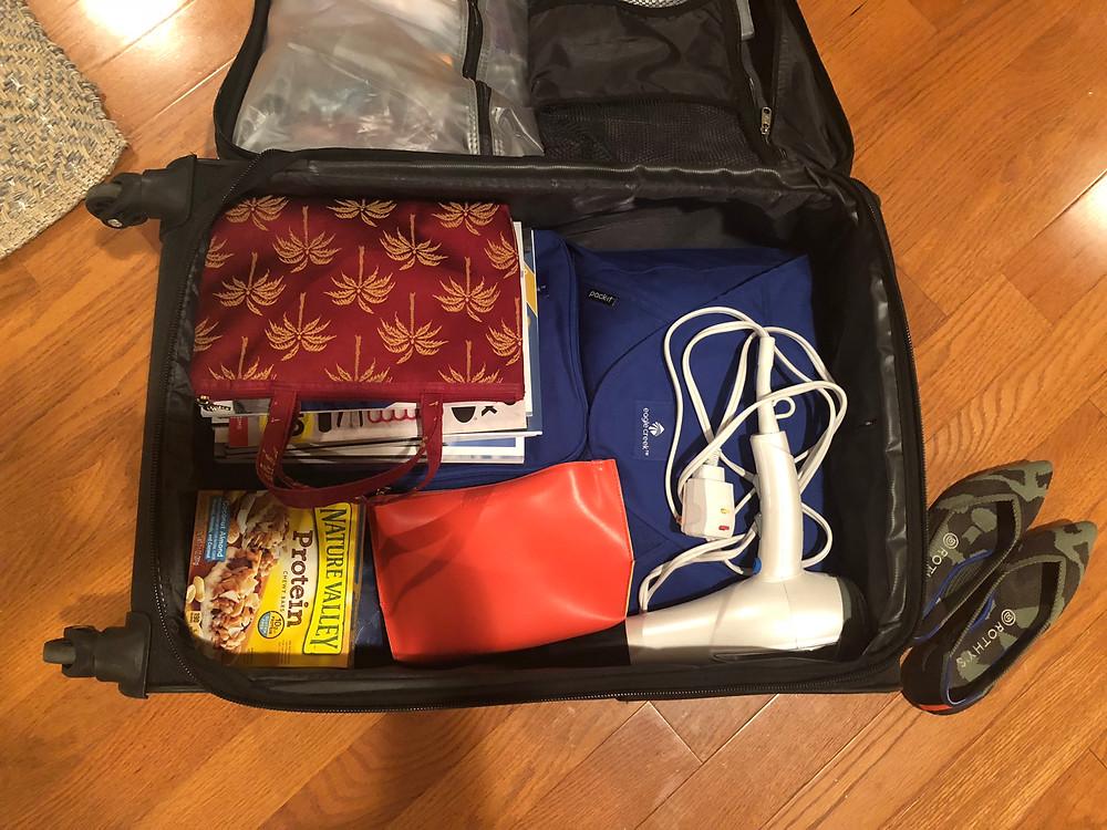 Luxury travel agent's suitcase.