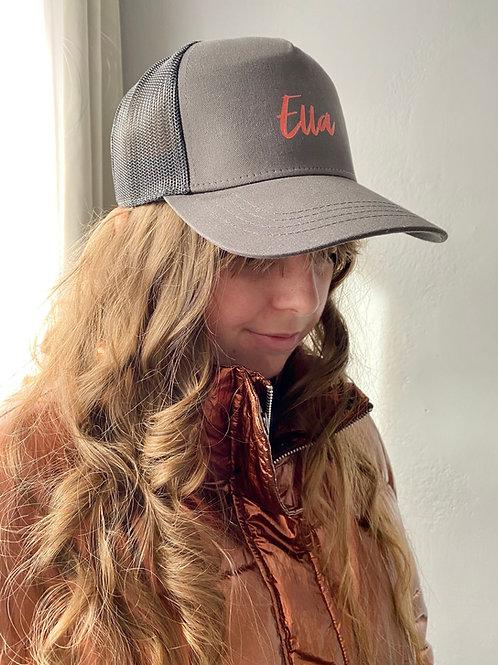 """Casquette """"Ella"""" modèle gris foncé"""