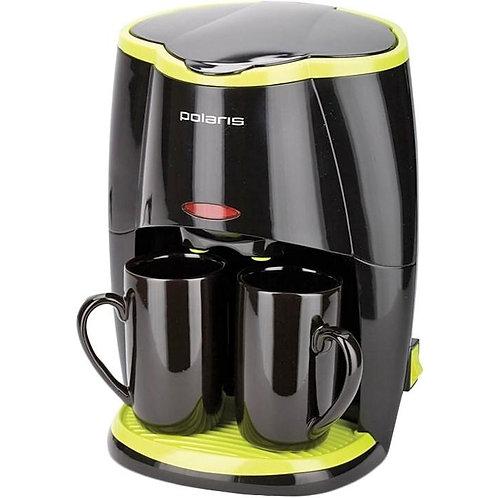 Кофеварка polaris pcm 0210 черный/салатовый