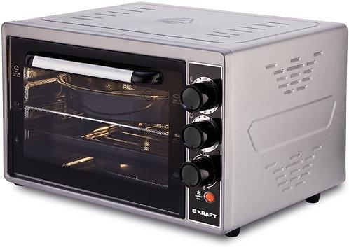 Мини-печь kraft kf-mo 3803 kgr серый