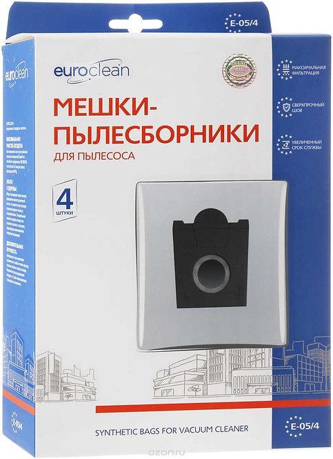 Мешок-пылесборник синтетический для пылесосов BOSCH, SIEMENS (4 шт.) EURO CLEAN