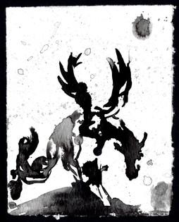 Ink Splater Horse 2