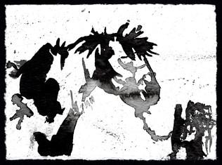Ink Splater Horse 1