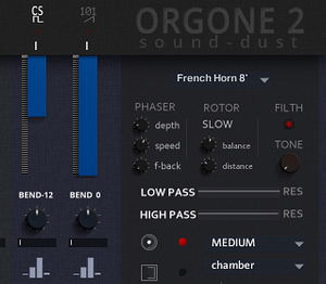 Orgone 2 an unusual drawbar organ for Kontakt VST