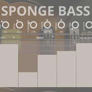Sponge Bass - a sample library for Kontakt VST