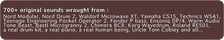 Modular Chaos Engine #3 - a odd drum machine for Kontakt VST -Chimera BC8 -Bastl - Nord -Waldorf Microwave - Fender - piano - Warm Audio