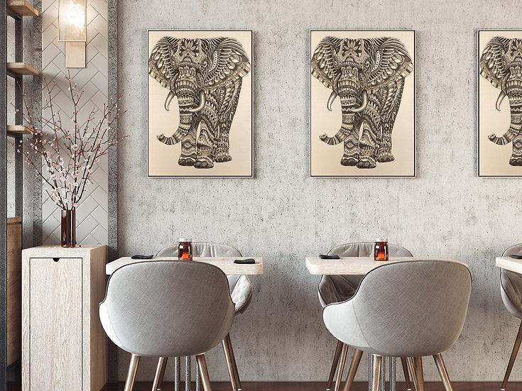 Elephant - 86x68
