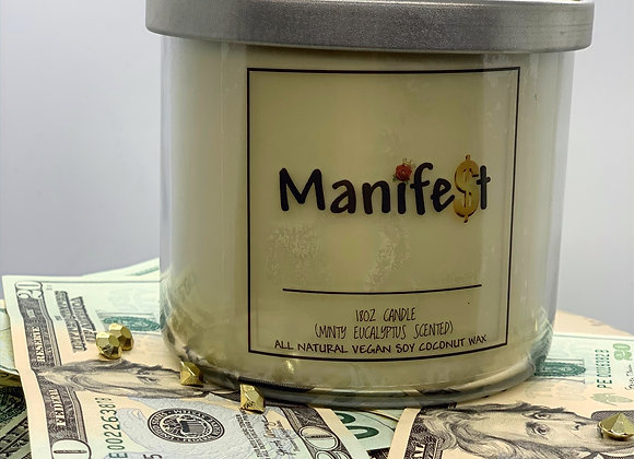 Manife$t Candle (Minty Eucalyptus)
