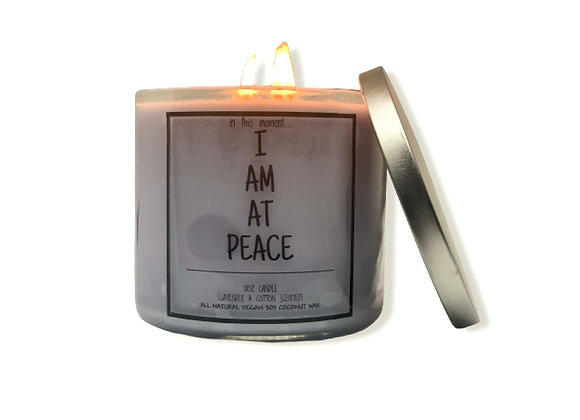 Peace Candle (Lavendar & Cotton)