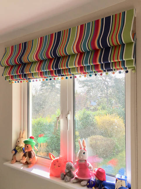 Colourful Roman Blinds for Kids' Room