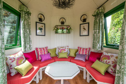 Curtains and Soft Furnishings in a Berkshire Gazebo