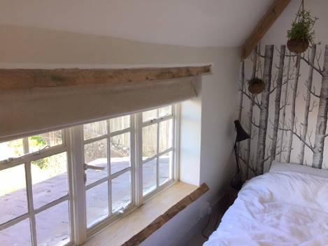 Linen Roman Bedroom Blinds