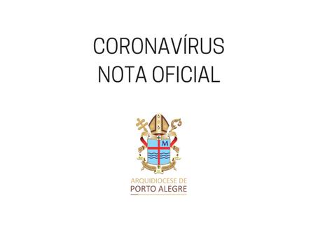 Coronavírus: Arquidiocese publica nota oficial sobre abertura das igrejas