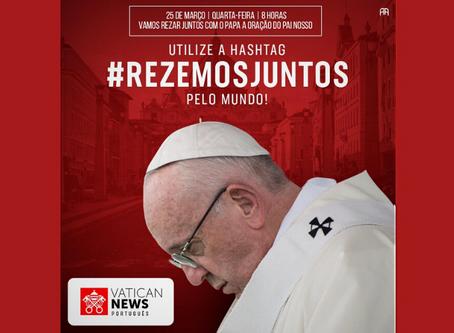 Arquidiocese reforça o convite do Papa: rezemos o Pai-Nosso nesta quarta-feira (25), às 8h
