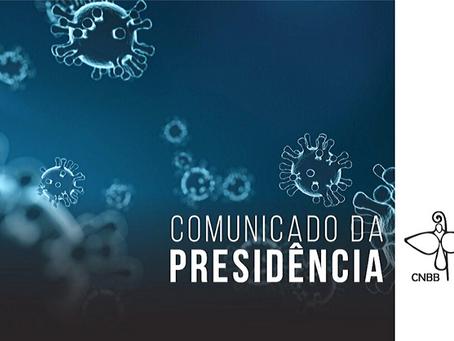 CNBB recomenda ao episcopado brasileiro manter o distanciamento social
