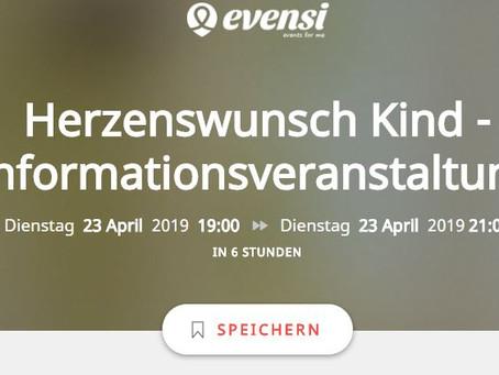 Unsere Informationsveranstaltung auf evensi