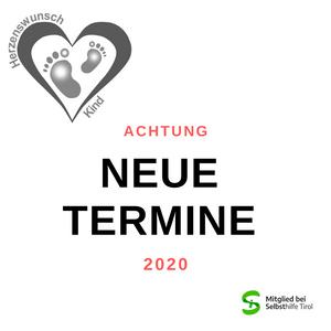 Neue #Termine für die #Gruppentreffen 2020