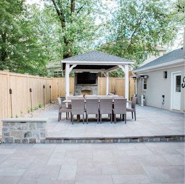 Installed Patio with drop step