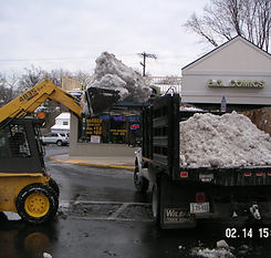 removal of snow piles