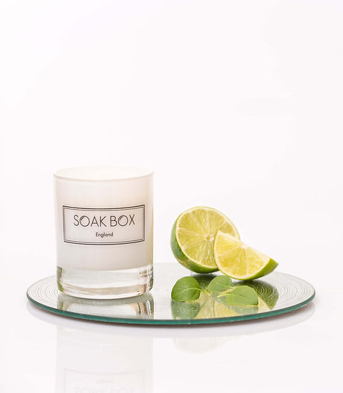 Lime, Basil and Pomelo Naturally Scented Candle