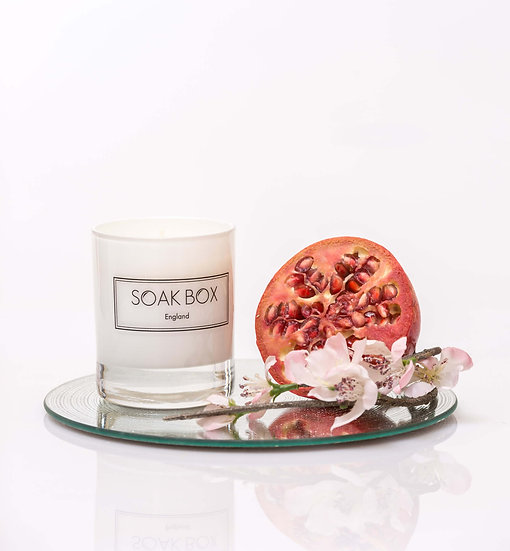 Apple Blossom & Pomegranate Naturally Scented Candle