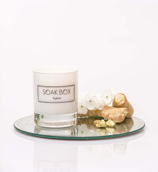 Jasmine, Ginger and Frankincense Naturally Scented Candle