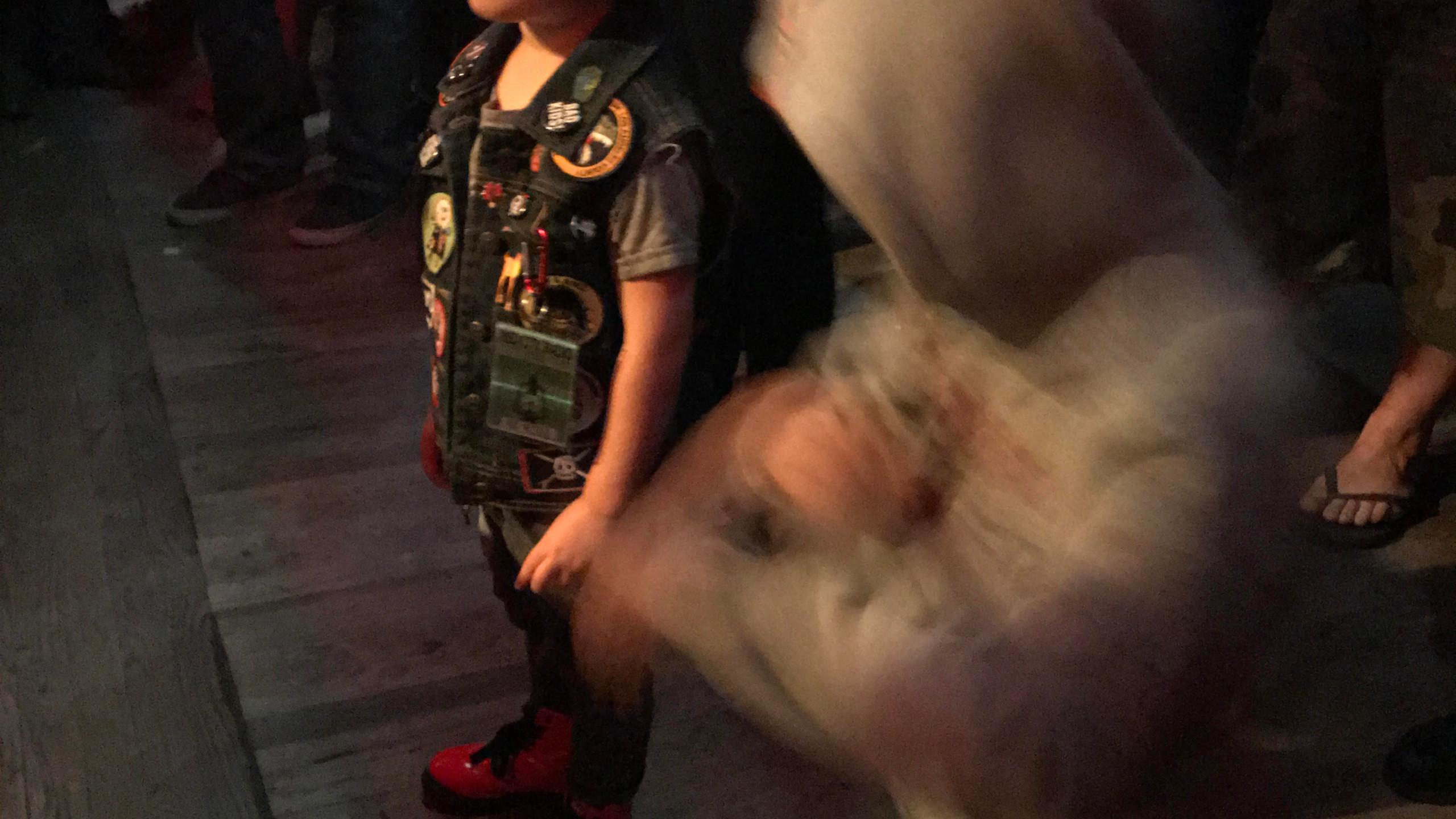 My kid and Poli's kid dancing
