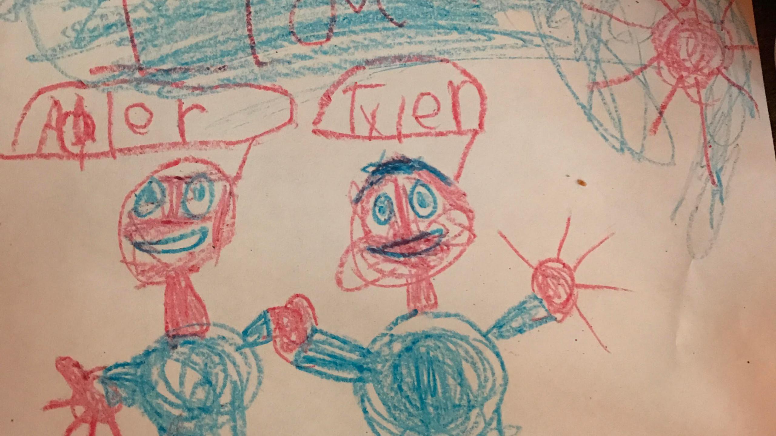 My kiddo made this for Adler