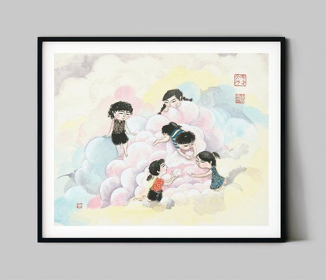 Dreaming Angels *Original Painting*