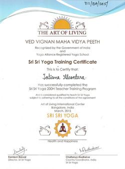 Sri Sri Yoga Training 2015