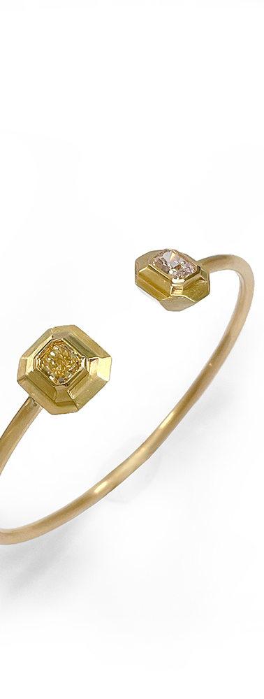Duo diamond bracelet