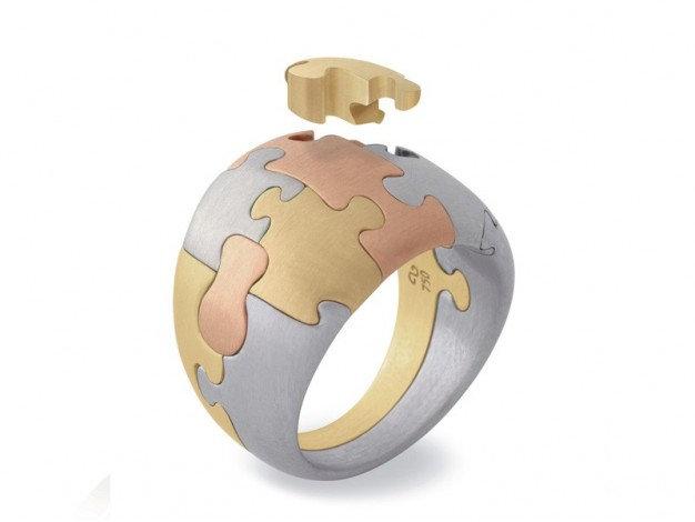 Antonio Bernardo- Puzzle curve ring