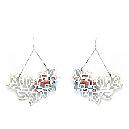 Heng Lee - Embroidery Pixel 7.7 Earrings