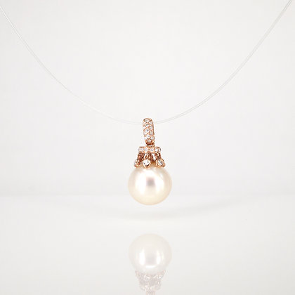 White (south sea) pearl pendant in 18K rose gold
