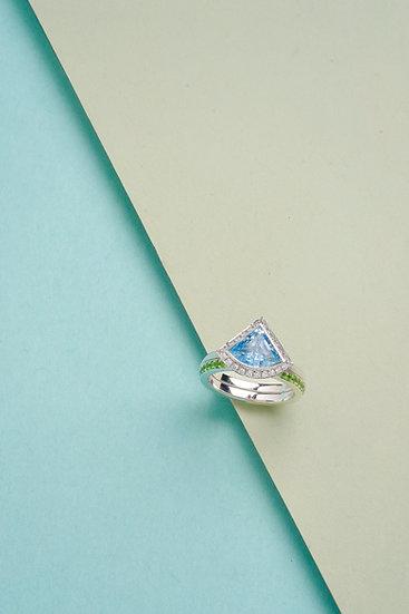 Rachel Yeung- Vertex Aquamarine Ring