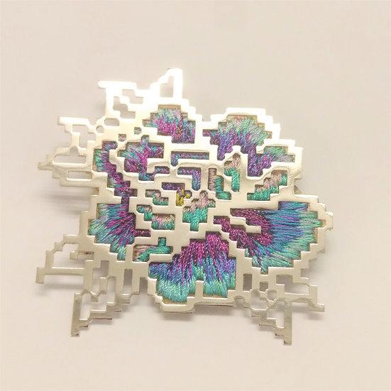Heng Lee - Embroidery Pixel 9.1B Brooch