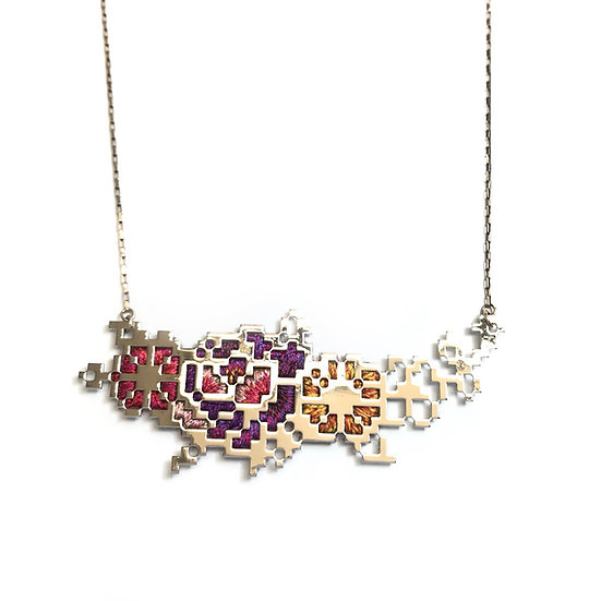 Heng Lee - Embroidery Pixel 3.5 Necklace