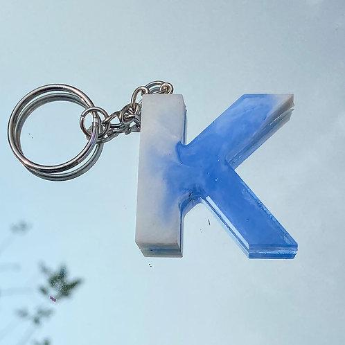 Swirl Letter Keychain