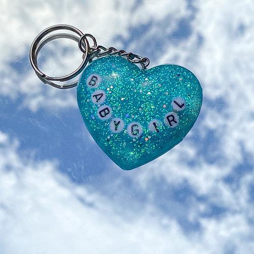 Babygirl Heart Keychain