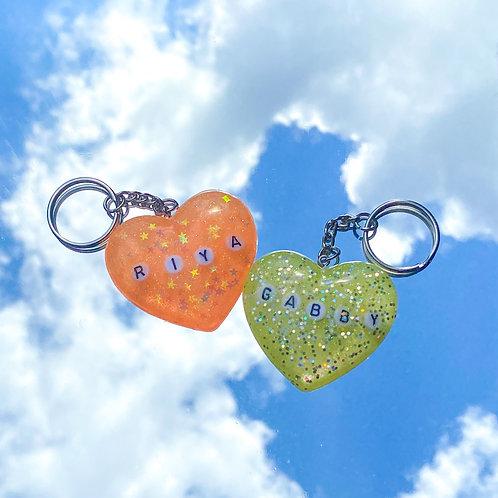 Custom Heart Keychains