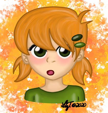 Orange Pigtails