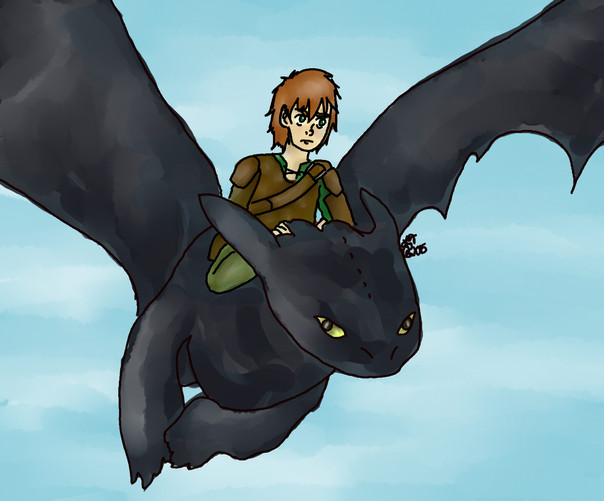 Hiccup and Toothless (How to Train Your Dragon)
