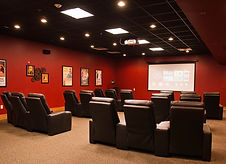Movie Theatre at Victorian Gardens with recliner chairs