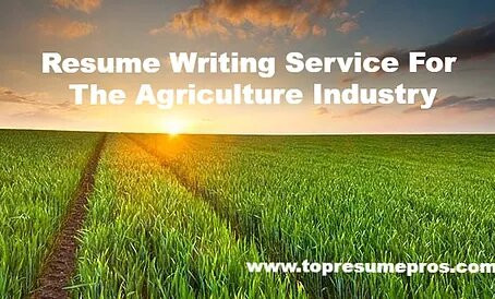 Resume Writing Service For The Agriculture Industry