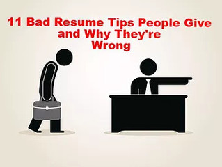 11 Bad Resume Tips People Give and Why They're Wrong