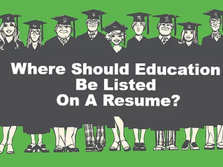 Where Should I List My Education On My Resume?