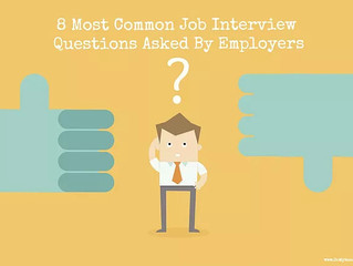 8 Most Common Questions Asked By Hiring Managers During A Job Interview