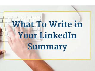 What Should My LinkedIn Summary Look Like?