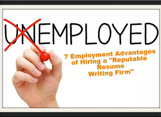 7 Employment Advantages of Electing a Professional Resume Writer To Develop Your Resume & Cover